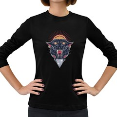 Flash Panther Women s Long Sleeve T Shirt (dark Colored)