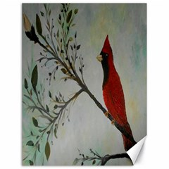 Sweet Red Cardinal Canvas 18  X 24  (unframed) by rokinronda