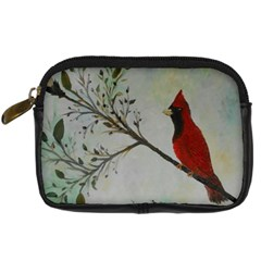 Sweet Red Cardinal Digital Camera Leather Case by rokinronda