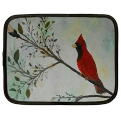 Sweet Red Cardinal Netbook Sleeve (xxl) by rokinronda