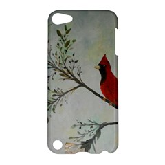 Sweet Red Cardinal Apple Ipod Touch 5 Hardshell Case by rokinronda