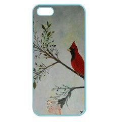 Sweet Red Cardinal Apple Seamless Iphone 5 Case (color) by rokinronda