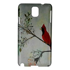 Sweet Red Cardinal Samsung Galaxy Note 3 N9005 Hardshell Case by rokinronda