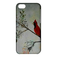 Sweet Red Cardinal Apple Iphone 5c Hardshell Case by rokinronda