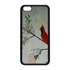 Sweet Red Cardinal Apple Iphone 5c Seamless Case (black) by rokinronda