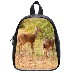 Deer In Nature School Bag (small) by uniquedesignsbycassie