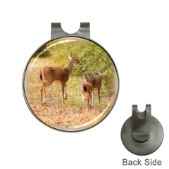 Deer In Nature Hat Clip With Golf Ball Marker by uniquedesignsbycassie
