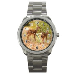 Deer In Nature Sport Metal Watch