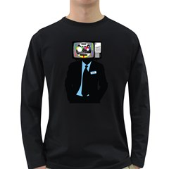 Crazytv Men s Long Sleeve T-shirt (dark Colored) by Contest1918947