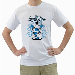 The Lucky Dog Men s T-shirt (white)  by Contest1771648