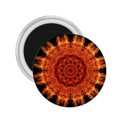 Flaming Sun 2 25  Button Magnet by Zandiepants