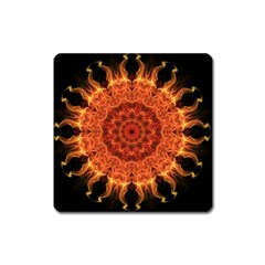 Flaming Sun Magnet (square) by Zandiepants