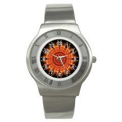 Flaming Sun Stainless Steel Watch (slim) by Zandiepants