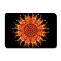 Flaming Sun Small Door Mat by Zandiepants