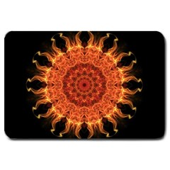 Flaming Sun Large Door Mat by Zandiepants
