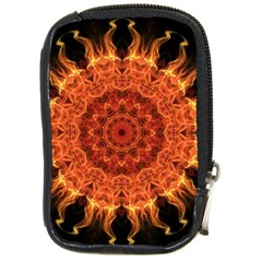 Flaming Sun Compact Camera Leather Case by Zandiepants