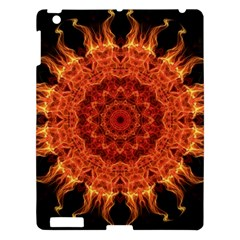 Flaming Sun Apple Ipad 3/4 Hardshell Case by Zandiepants