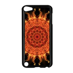 Flaming Sun Apple Ipod Touch 5 Case (black) by Zandiepants