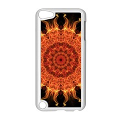 Flaming Sun Apple Ipod Touch 5 Case (white) by Zandiepants
