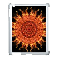 Flaming Sun Apple Ipad 3/4 Case (white) by Zandiepants