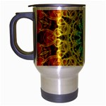 Flower Bouquet Travel Mug (Silver Gray) Left