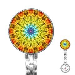 Flower Bouquet Stainless Steel Nurses Watch by Zandiepants