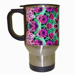Flower Garden Travel Mug (white) by Zandiepants