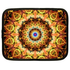 Ochre Burnt Glass Netbook Sleeve (xxl) by Zandiepants