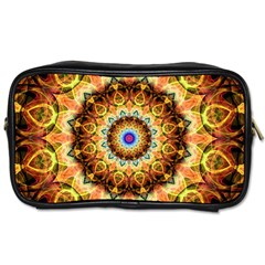 Ochre Burnt Glass Travel Toiletry Bag (two Sides) by Zandiepants