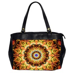 Ochre Burnt Glass Oversize Office Handbag (two Sides)
