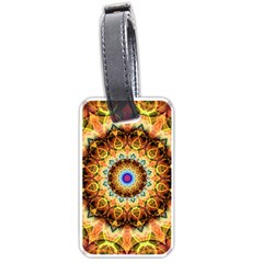 Ochre Burnt Glass Luggage Tag (one Side) by Zandiepants