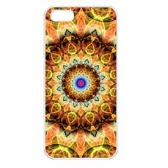 Ochre Burnt Glass Apple Iphone 5 Seamless Case (white) by Zandiepants