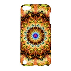 Ochre Burnt Glass Apple Ipod Touch 5 Hardshell Case by Zandiepants