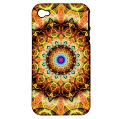 Ochre Burnt Glass Apple Iphone 4/4s Hardshell Case (pc+silicone) by Zandiepants