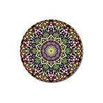 Psychedelic Leaves Mandala Magnet 3  (Round) Front