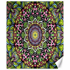 Psychedelic Leaves Mandala Canvas 8  X 10  (unframed) by Zandiepants