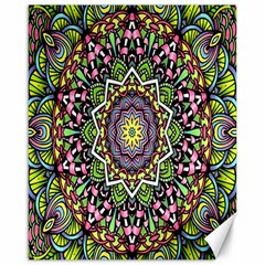 Psychedelic Leaves Mandala Canvas 16  X 20  (unframed) by Zandiepants