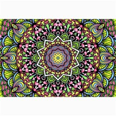 Psychedelic Leaves Mandala Canvas 20  X 30  (unframed) by Zandiepants