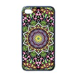 Psychedelic Leaves Mandala Apple iPhone 4 Case (Black) Front