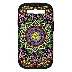 Psychedelic Leaves Mandala Samsung Galaxy S Iii Hardshell Case (pc+silicone) by Zandiepants