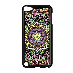 Psychedelic Leaves Mandala Apple Ipod Touch 5 Case (black) by Zandiepants