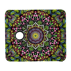 Psychedelic Leaves Mandala Samsung Galaxy S  Iii Flip 360 Case by Zandiepants