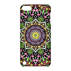 Psychedelic Leaves Mandala Apple Ipod Touch 5 Hardshell Case With Stand by Zandiepants