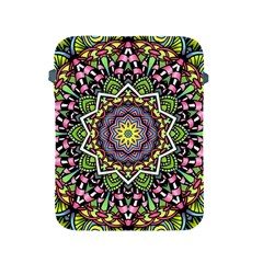 Psychedelic Leaves Mandala Apple Ipad Protective Sleeve by Zandiepants