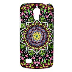 Psychedelic Leaves Mandala Samsung Galaxy S4 Mini (gt I9190) Hardshell Case  by Zandiepants