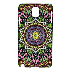 Psychedelic Leaves Mandala Samsung Galaxy Note 3 N9005 Hardshell Case by Zandiepants
