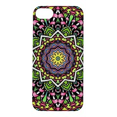 Psychedelic Leaves Mandala Apple Iphone 5s Hardshell Case by Zandiepants