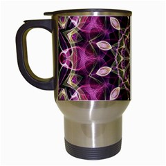 Purple Flower Travel Mug (white) by Zandiepants