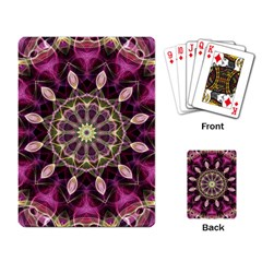 Purple Flower Playing Cards Single Design by Zandiepants