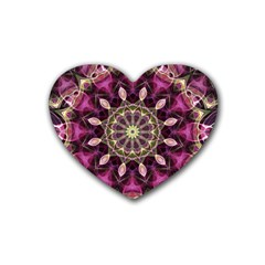 Purple Flower Drink Coasters (heart) by Zandiepants